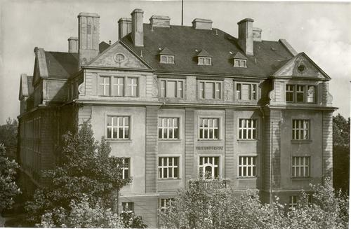 Boltzmannstraße 3 (Location of the Institute, 1948-1950)
