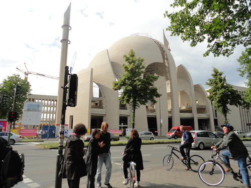 The biggest mosque of Germany, located in Köln Ehrenfeld, in its construction phase