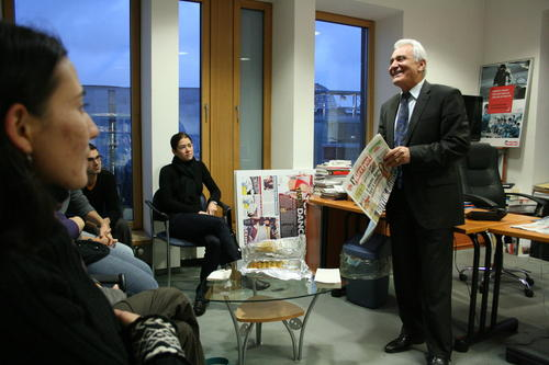 Visit of the editorial office of Hürriyet Berlin 2010