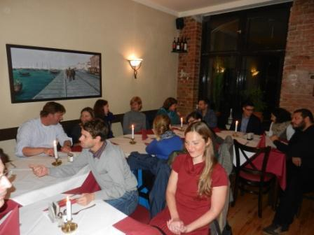 24th October 2012: welcome dinner for the new fellows