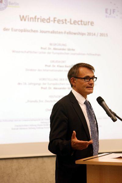 Winfried-Fest-Lecture 2014