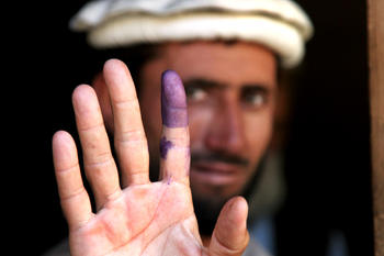 Afghan man after election