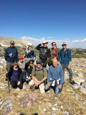 From bottom to top: Liesbet Hooghe, Martha Finnemore, Etel Solingen, Matthew Evangelista, Stephen Krasner, Thomas Risse, Kathryn Sikkink, Gary Marks, Stephanie Anderson, Nevin Aiken in the Snowy Range