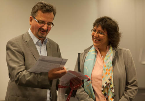 Thomas Risse and Tanja A. Börzel. Photo: Bettina Volke