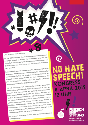 No Hate Speech Kongress 2019